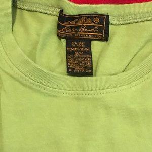 Eddie Bauer S/P Green Sleeveless Tee Like New